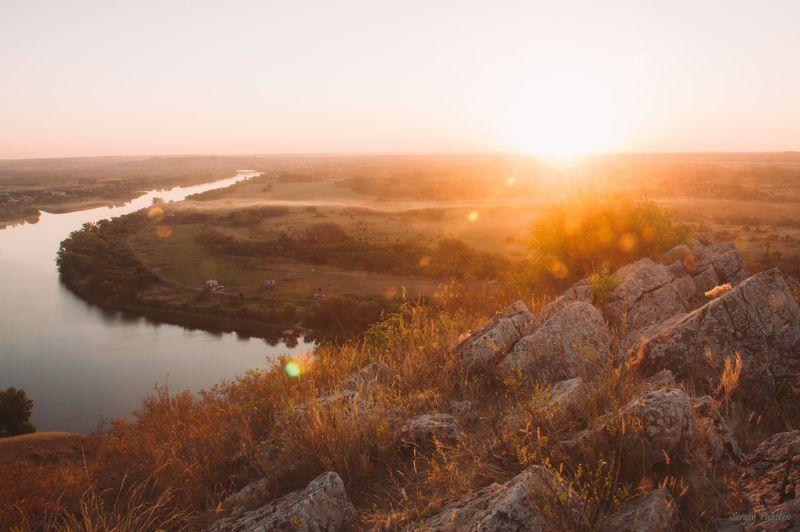 пейзаж, рассвет, утро, природа Рассветным утромphoto preview