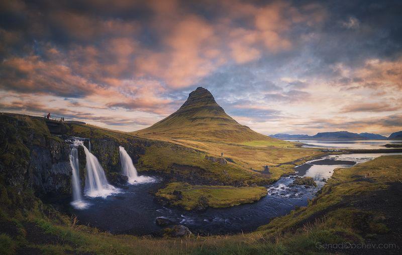 landscape, nature, iceland, пейзаж, природа Kirkjufellphoto preview