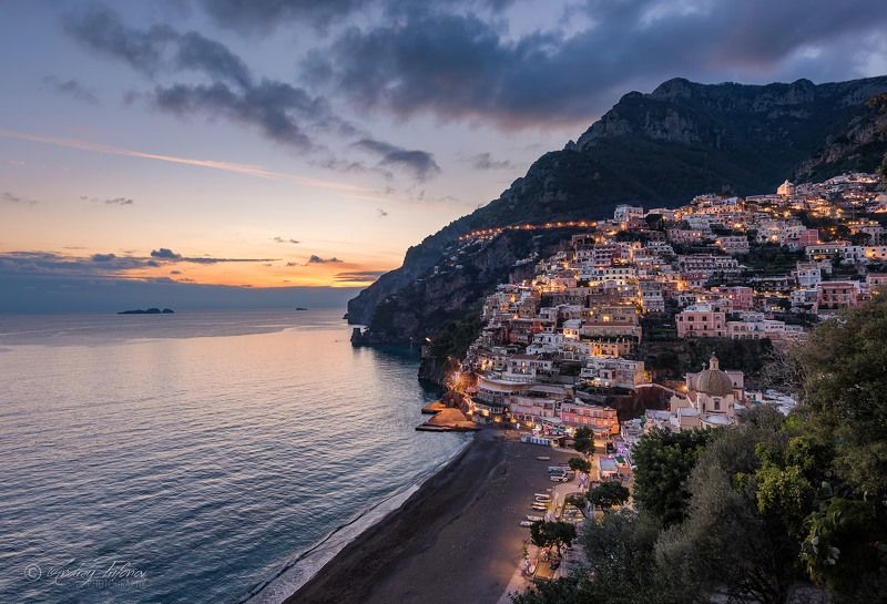Positano, Amalfi, Italy, picturesque, little town, cityscape Positanophoto preview
