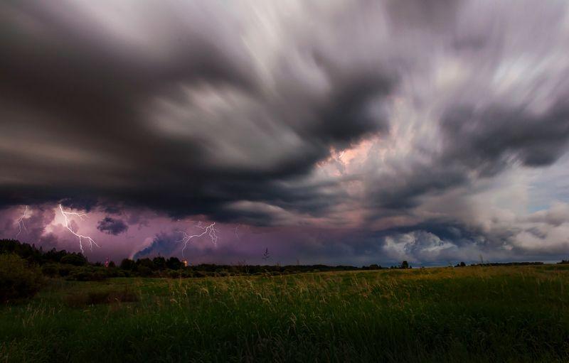 гроза, небо, дождь, лето, никон Темное царствоphoto preview