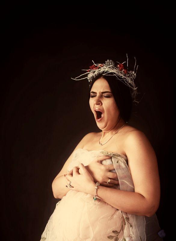 беременность, ожидание, портрет, женский портрет Все время хочу спать!photo preview