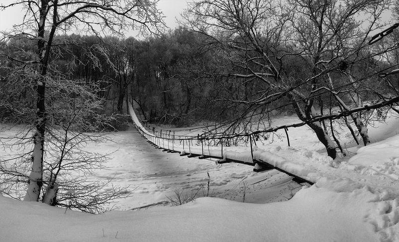 алексей платонов, брянск, хотылево, мост, десна, зима ---photo preview