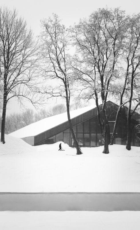 снег, зима, река, здание, архитектура, брест, крепость, берестье, буг, уборка Уборка снега.photo preview