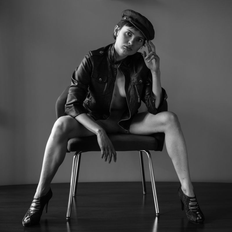 girl, woman, арт, портрет, portrait, женщина Cap - Шапка с козырькомphoto preview