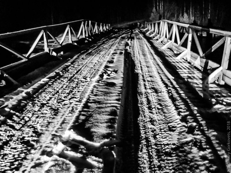 #photobydmitrygorkovets #blackandwhite #bridge #karelia #russia #winter Мост на Унутозере. Unut lake bridge. Karelia.Russia. Winter 2010. photo preview
