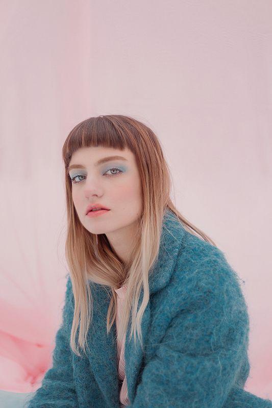 winter, pink, blue Swimphoto preview