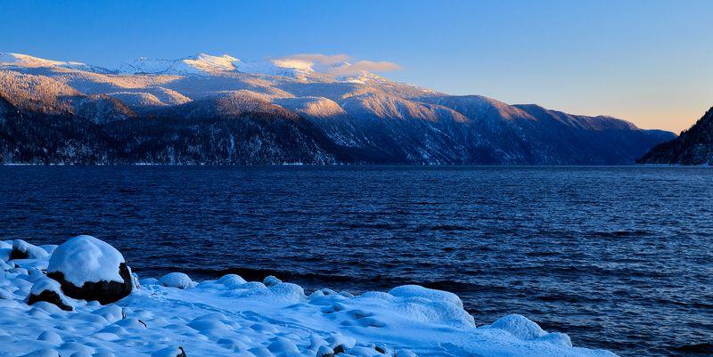 телецкое озеро, алтай яйлю Закат в Гольцах (хребет Корбу)photo preview
