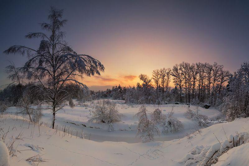 Федоскино. Зимний вечер.photo preview