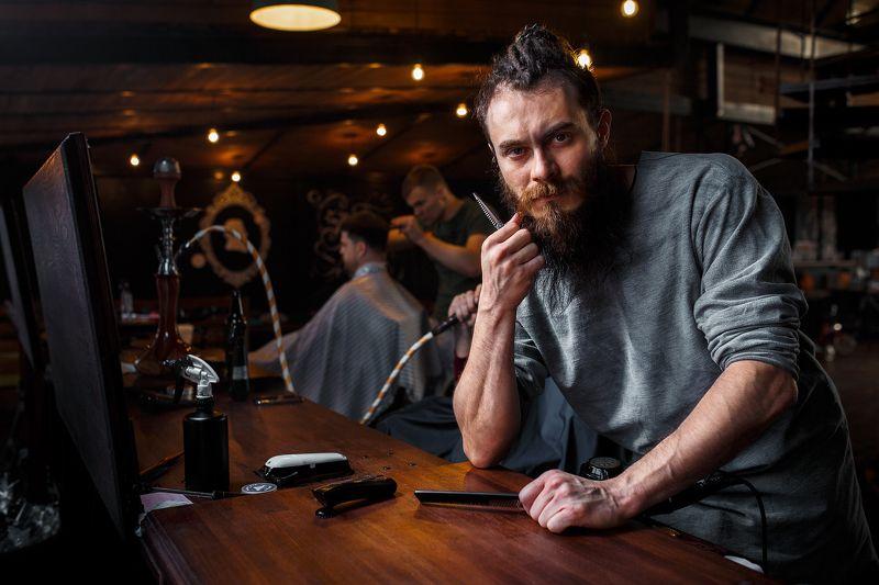 barber, man, portrait, barbershop, мужской портрет, барбер, жанровый Barberphoto preview