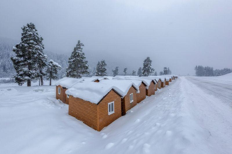 карачаево-черкесия ,кчр ,горы,архыз, Снежные домики ...photo preview