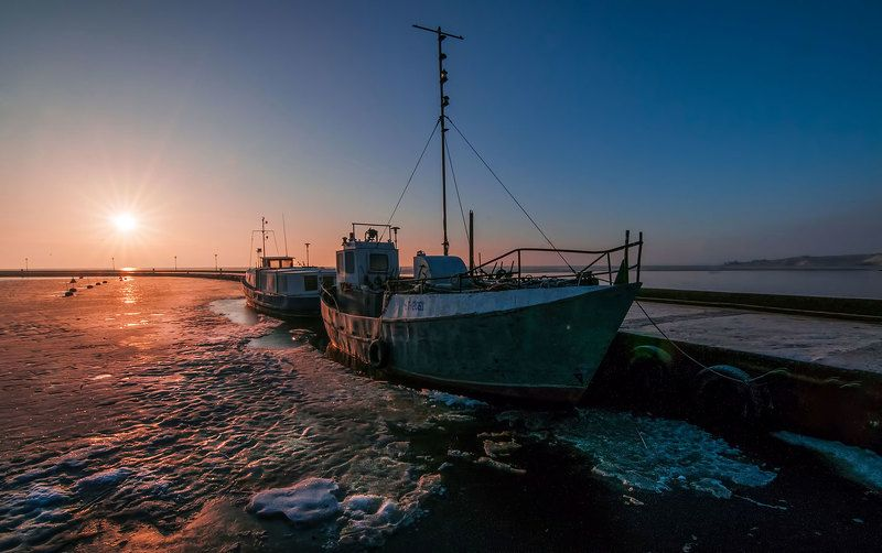 sunrise,neringa,lithuania,port Morning in Nidaphoto preview