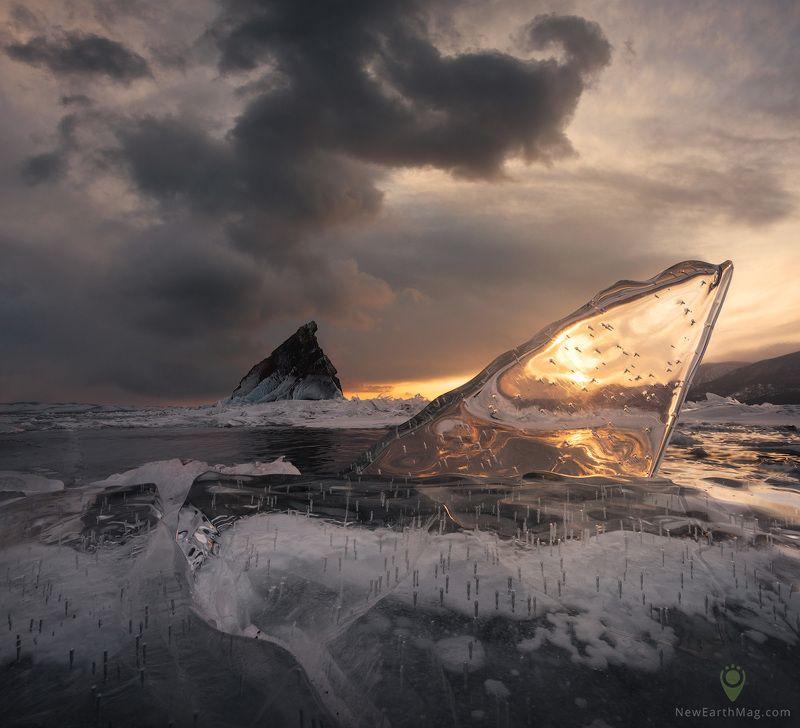baikal, island, siberia, байкал, остров, сибирь, лед, ice Тревожный моментphoto preview