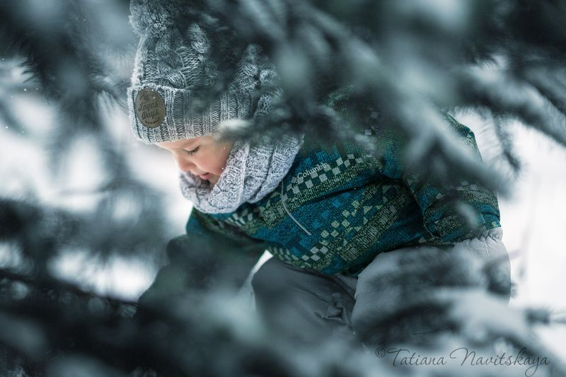 зима, мороз, снег, холодно, лес, деревья, ребенок, мальчик, ветки photo preview