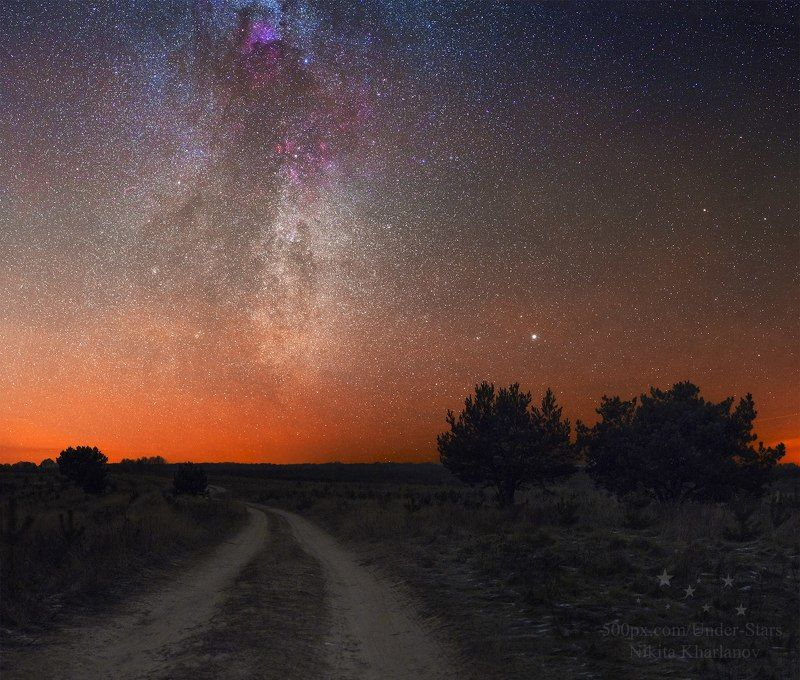зима, млечный путь, ночь, звезды, астрофото, milky way, stars, night, nightscape Дорога к Млечному Путиphoto preview