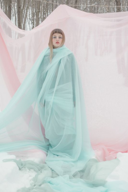organza, pink, girl, snow, blue AMORPHOUS photo preview