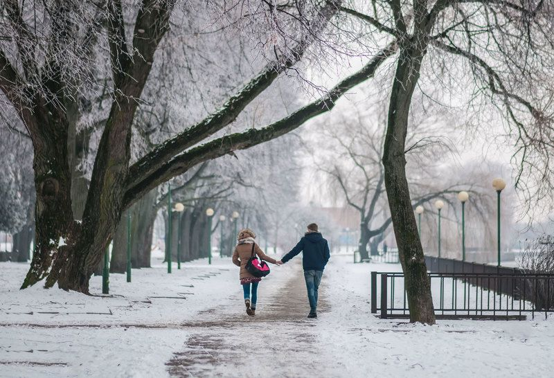 people,city,winter,river Togetherphoto preview