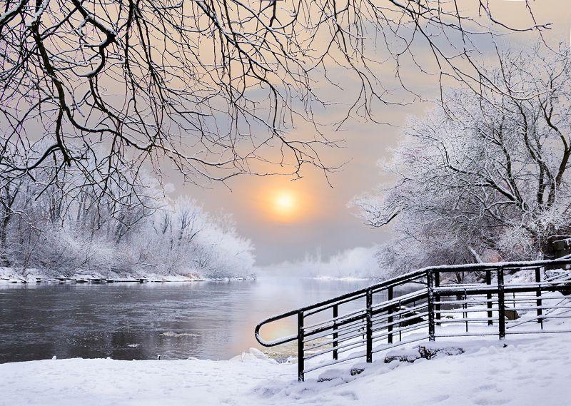 зима, река, снег, мороз, брест, крепость, буг Над Бугом.photo preview