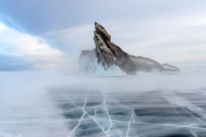 Байкал, Огой, зима, пейзаж, метель Метельphoto preview