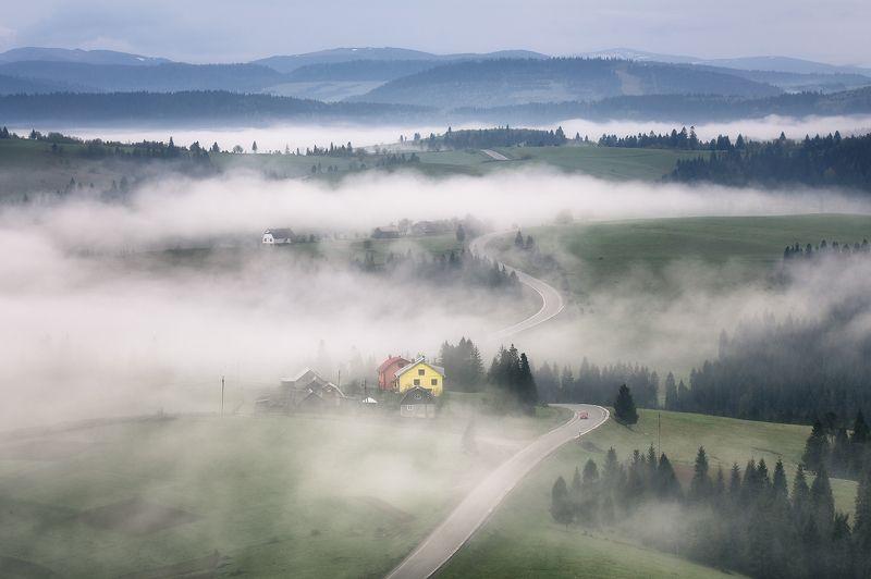 карпаты, весна, туман, утро Там, за туманами...photo preview
