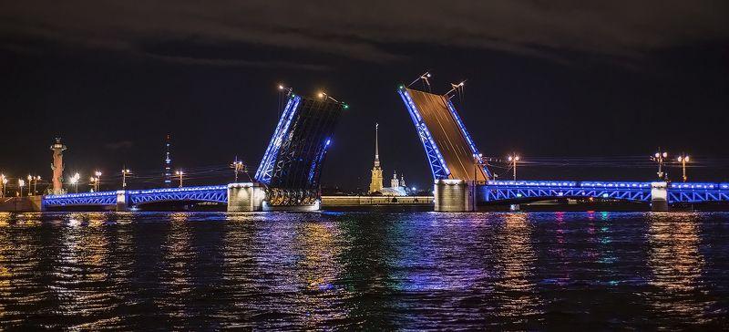дворцовый мост питер Ночной Дворцовый мост.photo preview