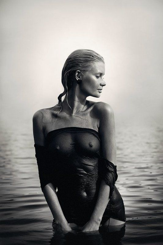 dmitry, alekseyev, lake, girl, bw, озеро, чб, water, вода, editorial ***photo preview