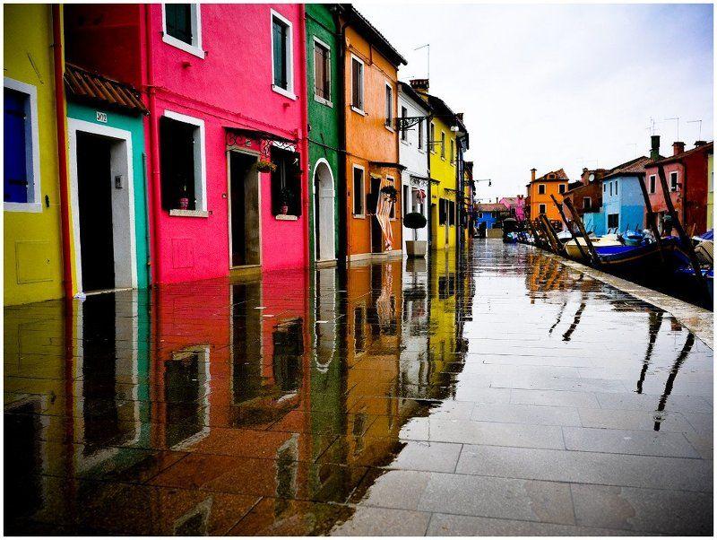 венецианская, лагуна., остров, бурано Дождь в Бурано или фантазии на тему.photo preview