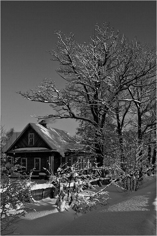 домик, зима, деревня Хорошо иметь домик в деревне...photo preview
