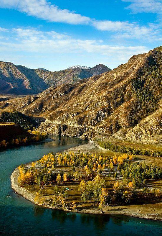 горный алтай,катунь,алтай,горы,осень,сентябрь,олег кулаков,oleg kulakov,ok-photo Катунь Бирюзоваяphoto preview