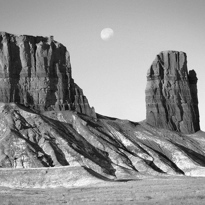 utah, mountains, desert, rock formations, landscape, black white, goblin, stream, river Utah Outback 21photo preview