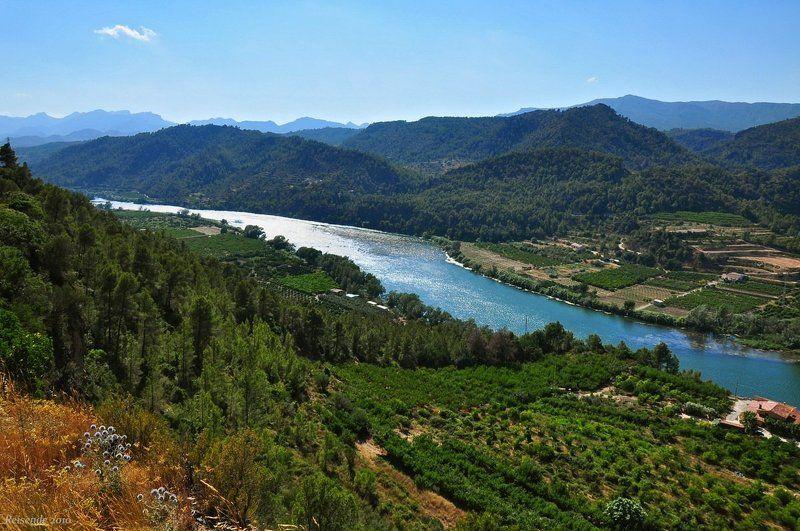испания, каталония, коста, дорада, река, эбро Воды синего Эброphoto preview