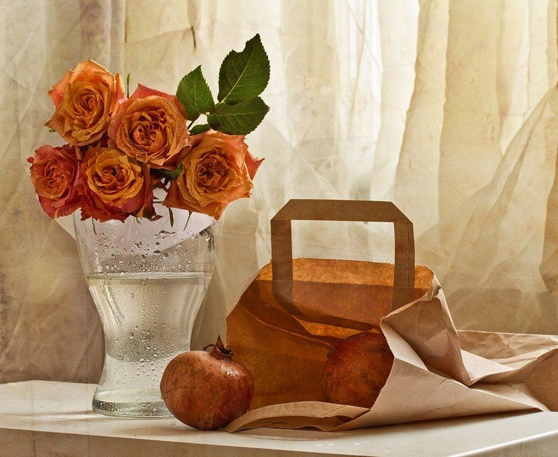 розы, гранат -photo preview