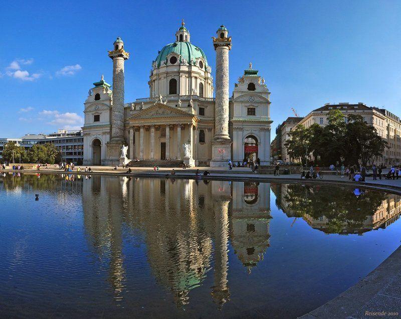 австрия, вена, karlsplatz, karlskirche, фрески Karlskirchephoto preview