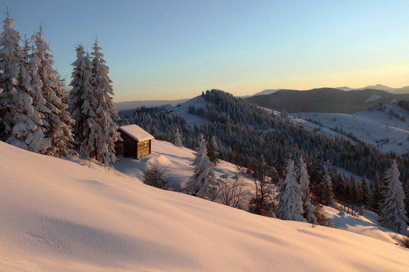 карпаты, мороз, зима, дом -20photo preview