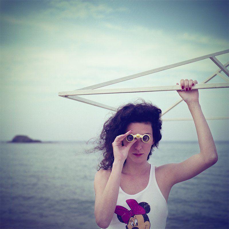 hasselblad, woman, girl, binoculars, seaside, sea, horizon the uncomfortable truthphoto preview