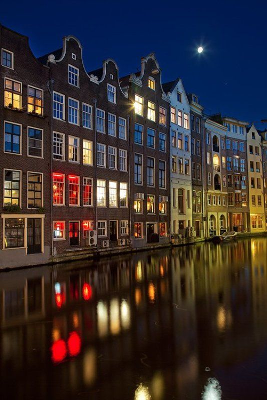 amsterdam, night, reflections, windows Lights of Amsterdamphoto preview