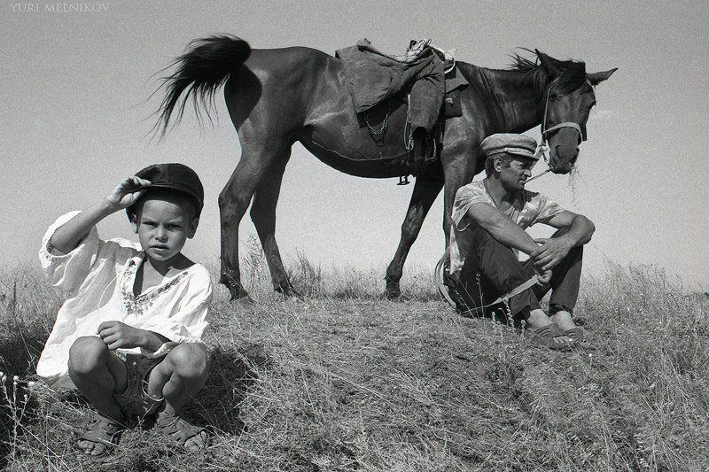 дети, пленка, деревня, лето Пастушокphoto preview