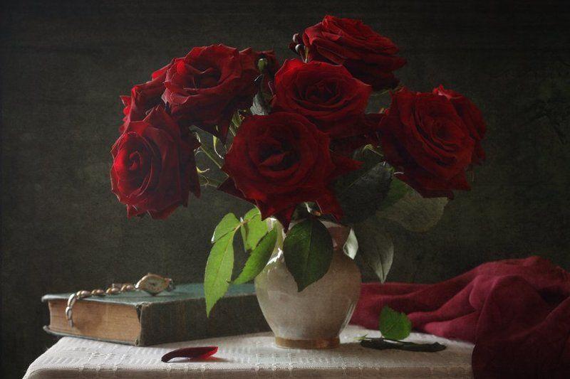 розы, часы С розами...photo preview