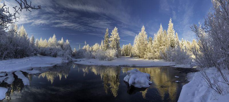 южная якутия, якутия, саха, нерюнгри, зима, снег, иней, река р.Олонгро. Минус сорокphoto preview