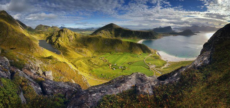 норвегия, лето, панорама, лофотены Северное летоphoto preview