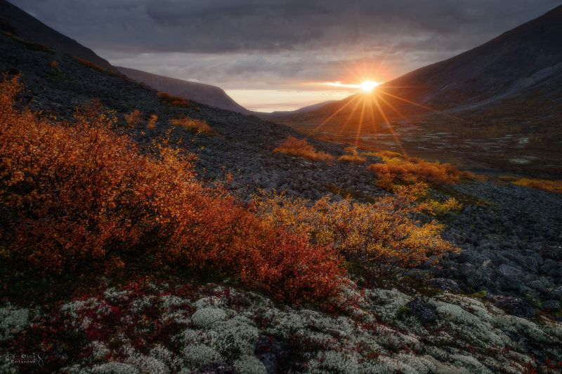 хибины, кольский полуостров, закат, осень, заполярье, тундра Пойманный момент закатаphoto preview