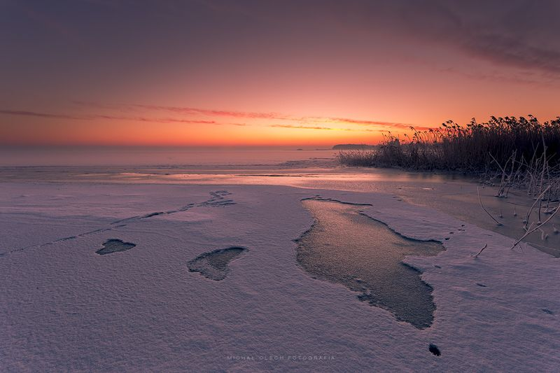 poland, winter, sea, ice, snow, море Dawnphoto preview