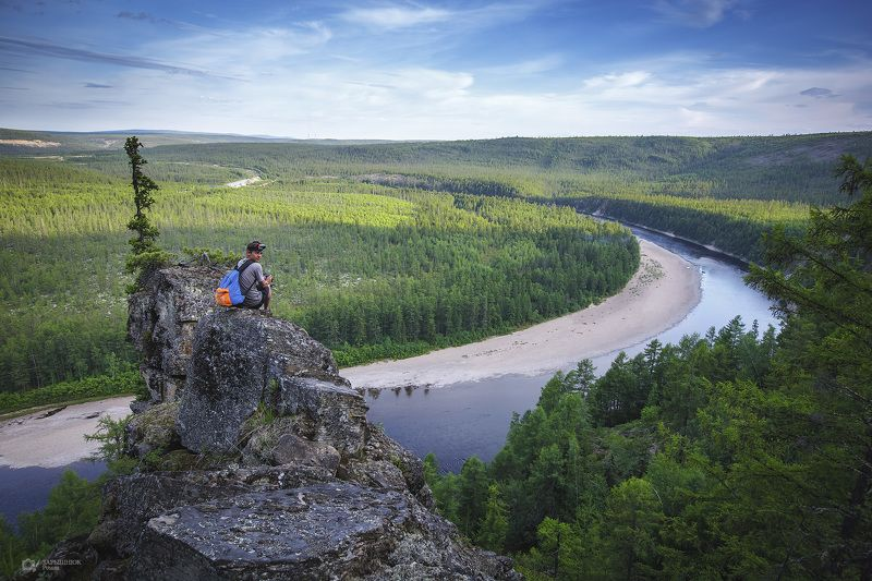 южная якутия, чульман, нерюнгри, лето, река, природа Соколиное гнездоphoto preview