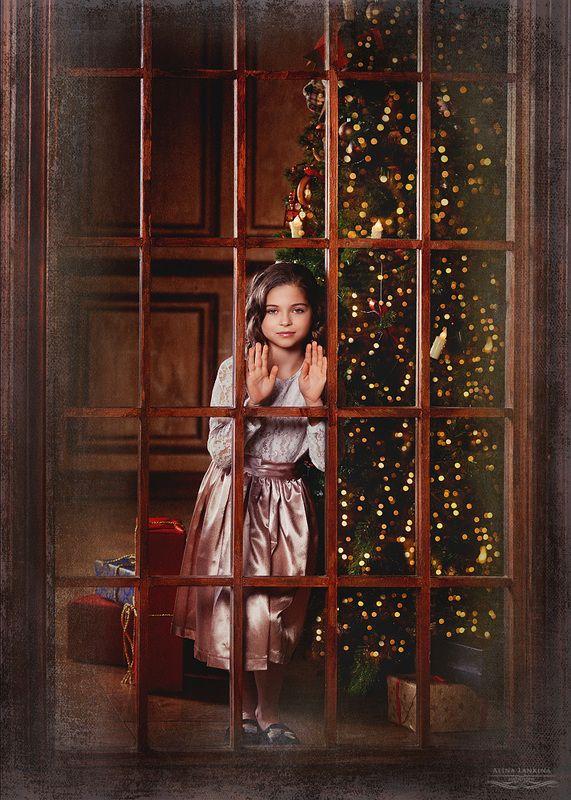 портрет, девочка, ребенок, новый год, семейное фото, алина ланкина, дизайн одежды для съемок, детское фото Дашаphoto preview