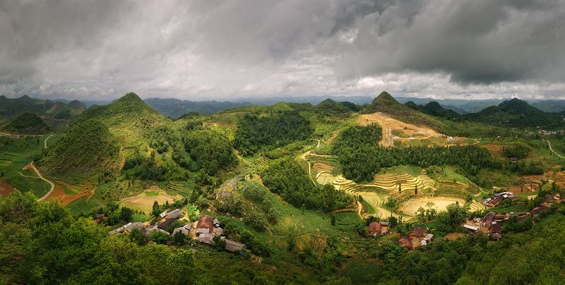 вьетнам, пейзаж, хазьянг, панорама Дождевой фронт.photo preview