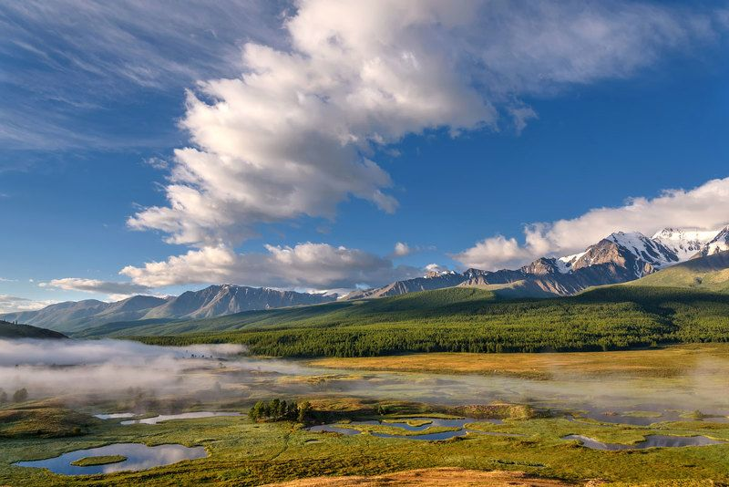 горы, туман, озеро, рассвет, восход, алтай, ештыкель, mountains, fog, lake, dawn, sunrise, altai Туман клубится...photo preview