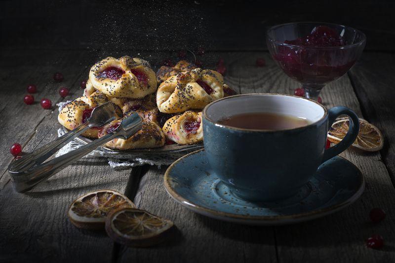 Чаепитие в брусничном стиле...photo preview