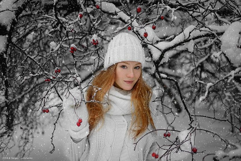 #beauty #portrait #girl #winter #fairytale Рыжикphoto preview
