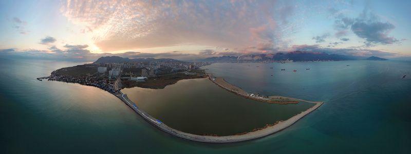 юг, дрон, аэрофотосъемка, новороссийск, закат С высоты птичьего полетаphoto preview