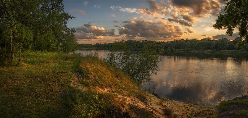 золотые пески беларусь сож река вечер берег облака photo preview