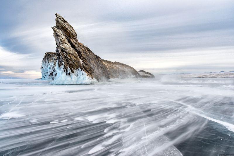 Байкал, Огой, зима, лёд, метель Метель 2photo preview